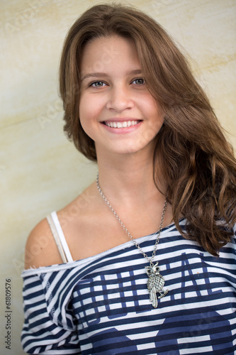 Happy smiling teen girl