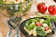 Spinach and rotini pasta salad