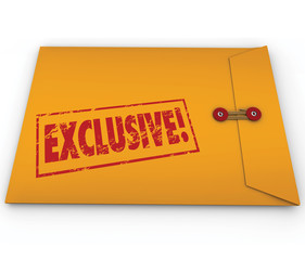 Exclusive Classified Information Content Yellow Envelope Word