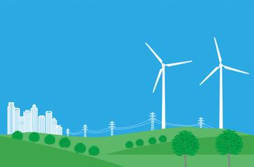 クリーンエネルギー風力発電