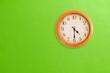 Leinwanddruck Bild - Clock showing 04:30 on a green wall