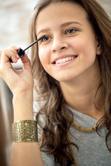 teen girl with mascara
