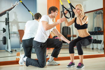 Workout with fitness straps
