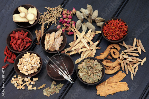 Canvas Assortiment Oriental Medicine