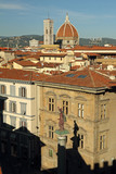 landscape of Florence with column of justice