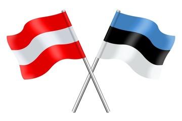 Fahnen: Österreich und Estland