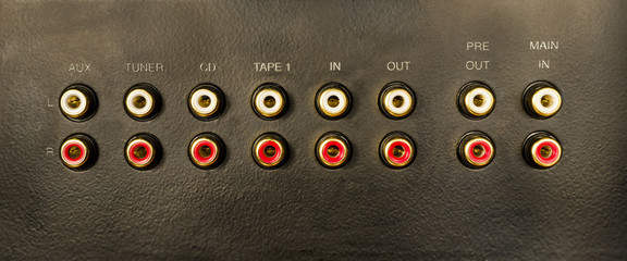 Input-Output connector for Hi-Fi audio