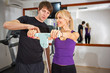 Individual fitness instructor  with client