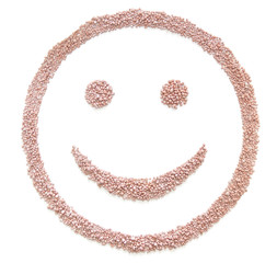 fertilizer.seed in smile shape