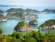 canvas print picture - Limestone Islands in Halong Bay, Vietnam