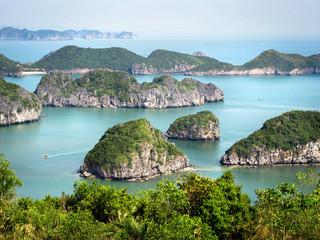 Limestone Islands in Halong Bay, Vietnam