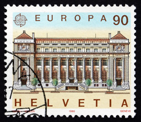 Postage stamp Switzerland 1990 Post Office, Geneva