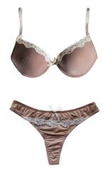Beige lingerie set