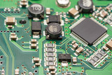 Computer Circuit Board Close Up