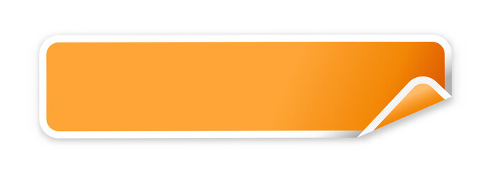 the blank orange web banner