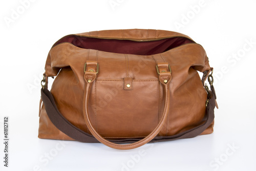 Travel bagagge on white background