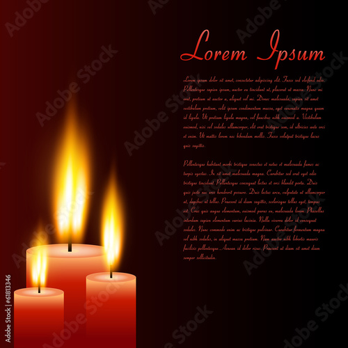 Candles, Vector Illustration