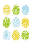 Crochet easter eggs - vector file