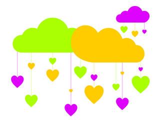 nuages et coeurs