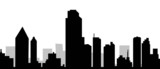 Dallas  City Skyline-vector