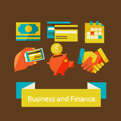 finance and business concept.