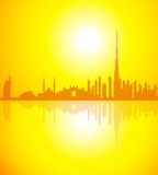 Dubai Skyline at Morning-Vector