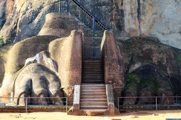 Célèbre rocher de Sigiriya au Sri Lanka