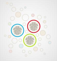 infographics - three color circle panels