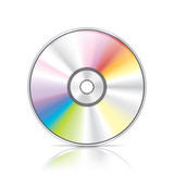 DVD or CD disc vector illustration