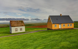 Lawn covering house, iceland original buildings, Glaumbaer