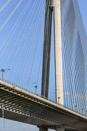 Suspension Bridge Over Ada Pylon - Detail - Belgrade - Republic