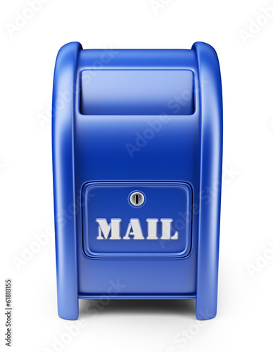 Mail box. 3D Icon isolated on white background