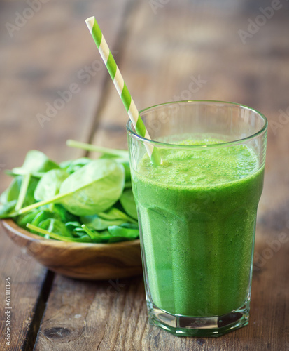 canvas print picture Spinach smoothie