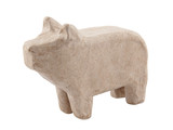 Paper pig isolated on white with clipping path
