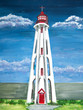 Acrylic painting of a Lighthouse