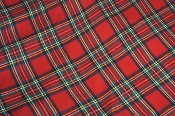 Checked fabric.