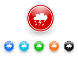 storm icon vector set