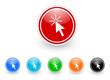 click icon vector set
