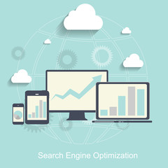 Search Engine Optimization. Vector Illustration