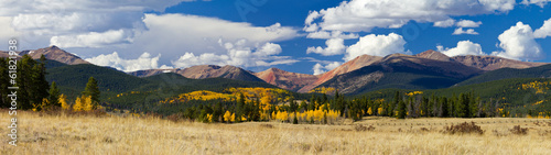 Aluminium Bergen Colorado Rocky Mountains in Fall