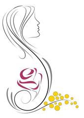 donna stilizzata decorazione