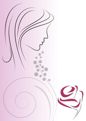 decorazione donna rosa e mimosa