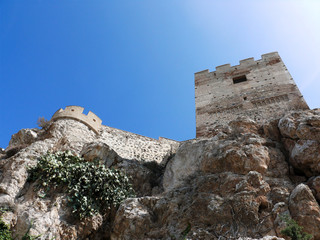Fortified muslim castle in Andalusia. Salobrena