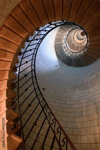 Papiers peints Phare l'escalier du phare d'Eckmuhl