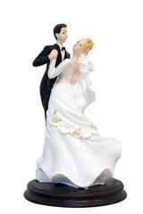 A wedding couple figurines