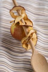 Apfelringe und Apfel