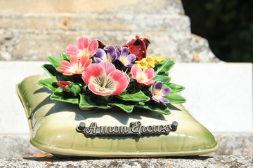 Grave ornament in France