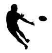 Side Profile of Rugby Speedster Passing the Ball