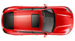 canvas print picture - Red sports car - top view