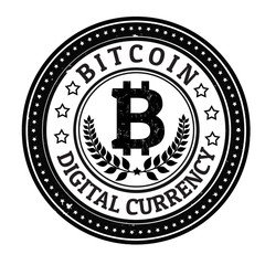 Bitcoin stamp and label